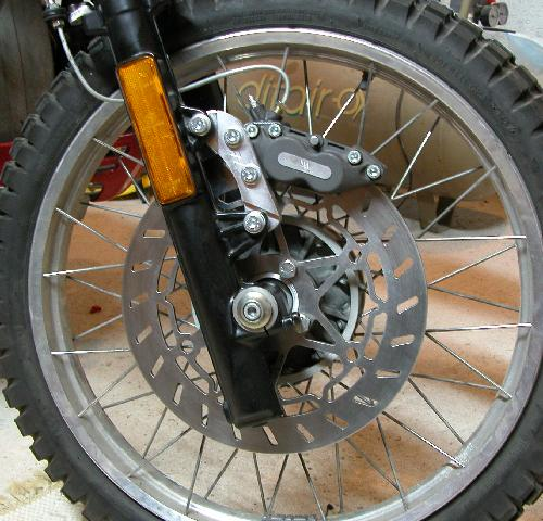 R100GS - Rectifer étrier brembo 4 pistons Hebrake